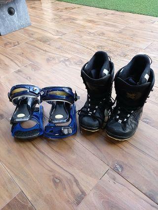 Vendo botas y regalo las fijaciones