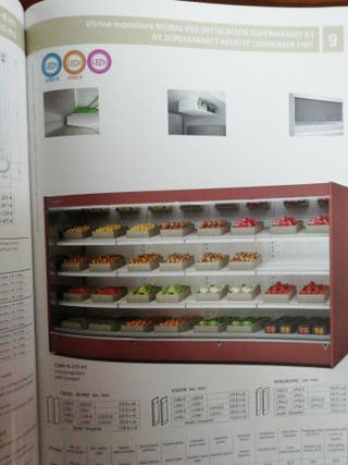mural refrigerado supermercado frutería