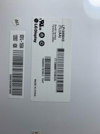 C02 - Pantalla portatil 15,6 LP156WH3 TL AA
