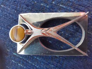Colgante de plata raro (rectangular con hombre)