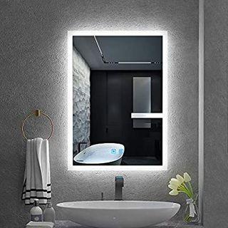 Quavikey LED espejo de baño 50 x 70 cm espejo de l