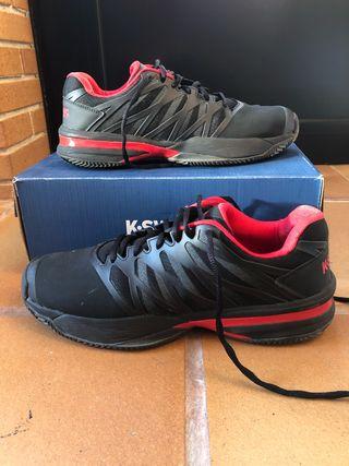 Zapatillas Padel kswiss ultrashot 2 HB negro rojo