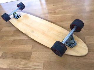 Longboard skateboard bambú