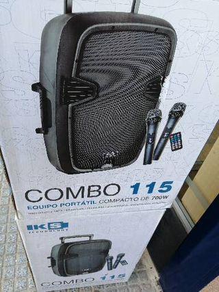 """Altavoz Bateria 15"""" Microfono Mp3 +Usb +"""
