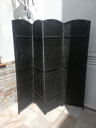 biombo negro marrón Ikea URGE