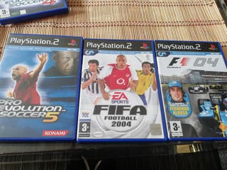 PS2 FIFA 2004, FORMULA ONE 2004, PRO EVOLUTION 4