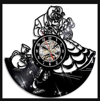 Bella y bestia reloj vinilo