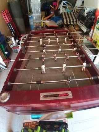 futbolin de bar madera+accessorios+recambios