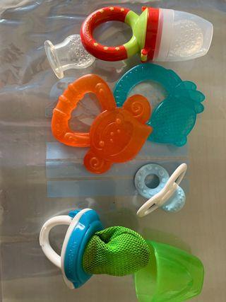 Alimentador,mordedor de dientes,cubiertos bebé