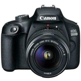 CAMARA DIGITAL REFLEX CANON EOS 2000D + 18-55 CMO