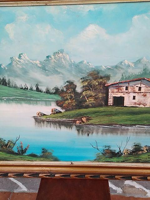 Óleo de paisaje rural