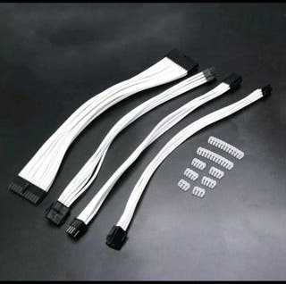 CUSTOM PSU EXTENSION CABLE KIT (WHITE/BLACK/RED)