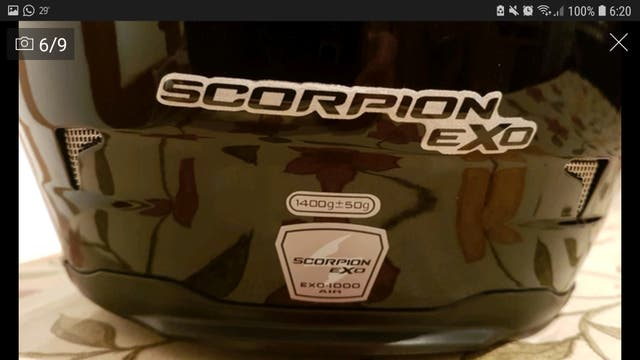 Casco integral scorpion exo 1000 air talla M