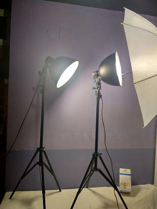 """Ex-Pro ® paraguas 36/"""" 91cm foto estudio difusor de luz reflector negro y dorado"""