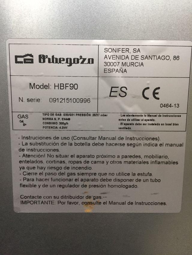Estufa catalítica Orbegozo.