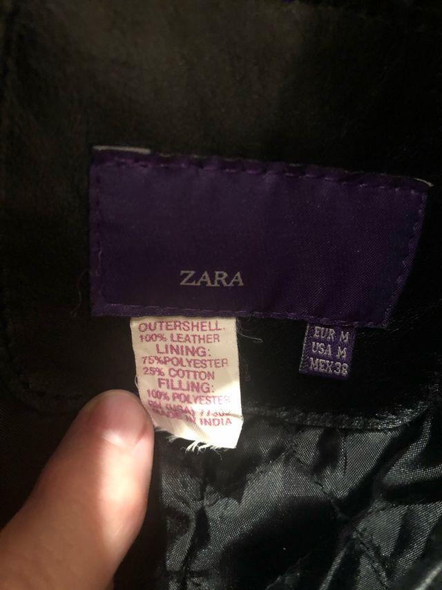 Cazadora de cuero marca Zara