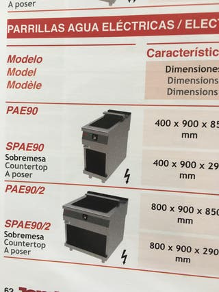 Parrillas fondo 900 eléctricas JEMI