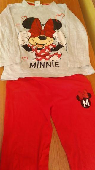 Pijama Minnie talla 5-6 algodón