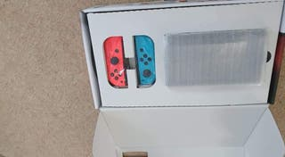 Nintendo Switch console with games and extras