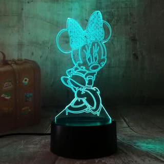 Lampara LED RGB 3D Personajes DISNEY