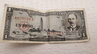 Billete 1 Peso Cubano 1956