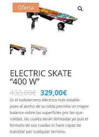 skater eléctrico 400w