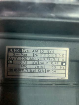 MOTOR ELÉCTRICO AEG AM 80 NY4