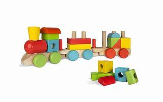 Tren de madera educativo
