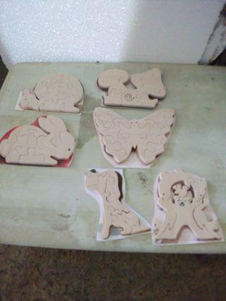 puzzles de madera echos a mano