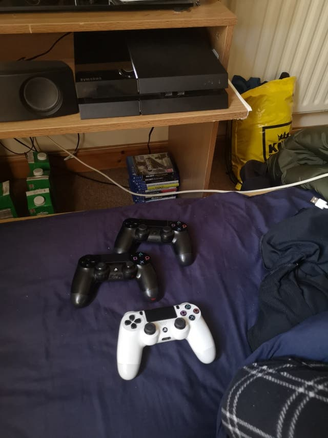 PS4 500GB with 3 controllers and 12 games