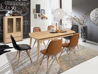 Mesa de comedor extenxible de madera roble europeo