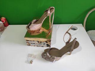 Zapato tacón color Nude