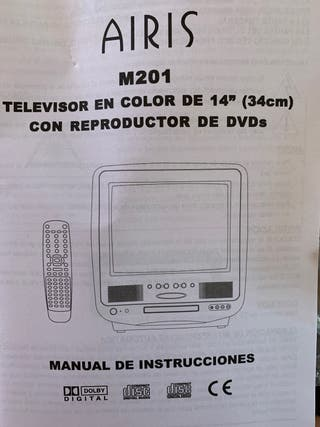 Tv AIRIS M201 de 14 pulgadas reproductor DVD