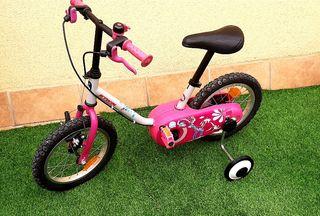 Bicicleta b-twin infantil niña