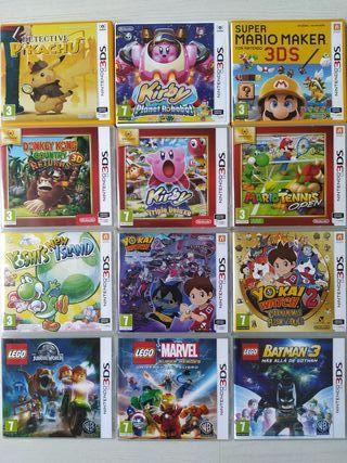Cajas Con Carátulas 2DS,3DS SIN JUEGOS)