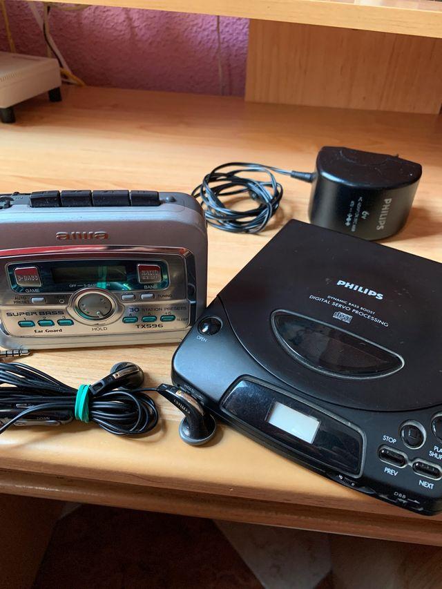 Walkman y Discman para piezas