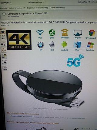 Adaptador de Pantalla Inalámbrico 5G