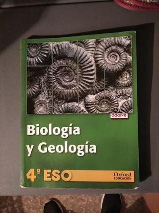 libro de biología y geología de 4° ESO