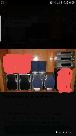 6Altavoces y un technics