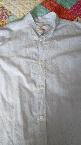 Camisa cuello mao algodón, H&M