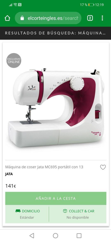 Máquina de coser Jata génesis 695 de segunda mano por 50
