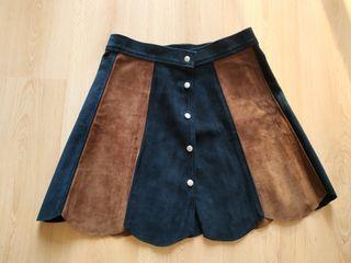 falda de piel