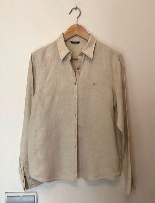 BASS20 Camisa de lino manga larga