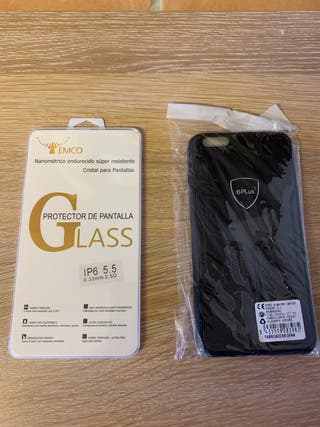 Cristal y Funda Iphone 6S Plus
