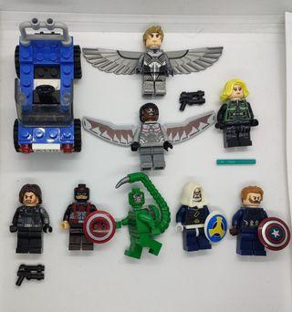 figuras tipo lego Avengers + Coche