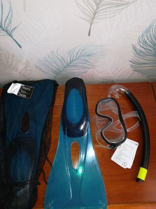 Snorkel kit aletas gafas y tubo niño