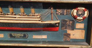 maqueta cuadro titanic