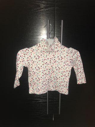 Camiseta Niña manga larga flores 2años