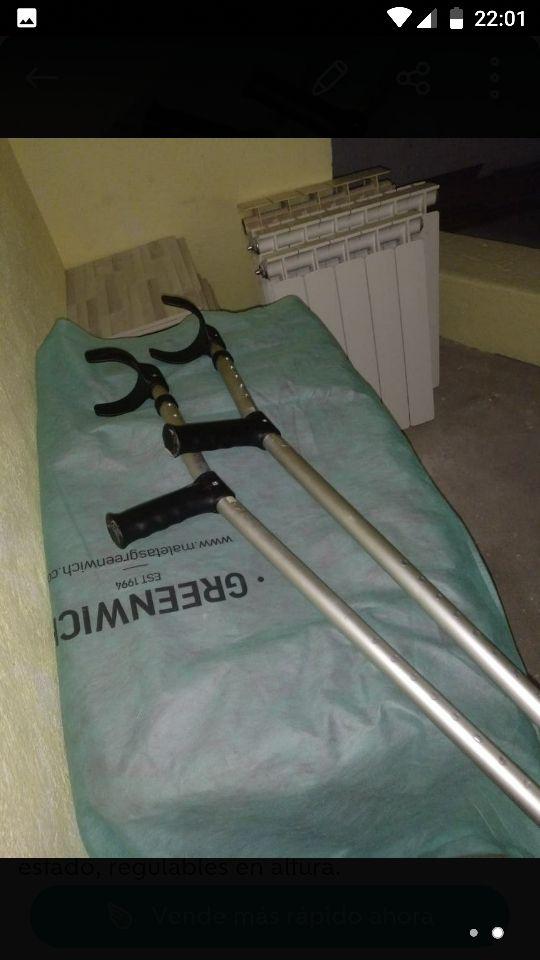 Muletas ortopedicas regulables