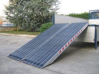 Rampas de aluminio para cadenas de hierro